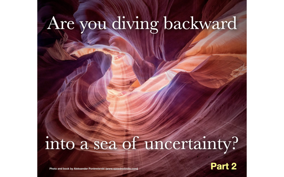Are you diving backward into a sea of  uncertainty?(Part 2)